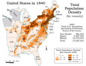 DLib Featured Collection JanuaryFebruary LincolnNet - Map of the us 1840