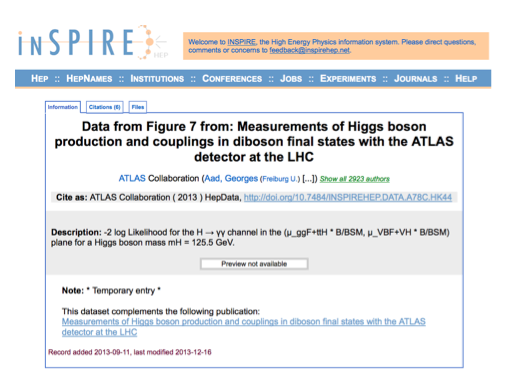 Data Citation Services in the High-Energy Physics Community