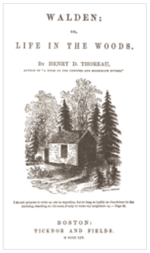 Dust Jacket from early edition of Walden: Life in the Woods