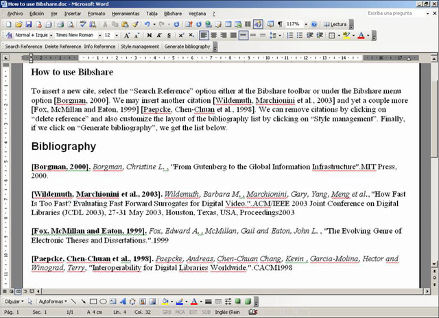 bibliographies - Including additional bibliography (publication list